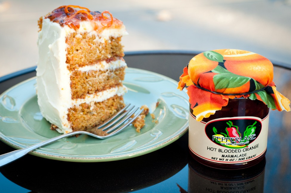 Carrot Cake w/ Pepperlanes Hot Blooded Orange