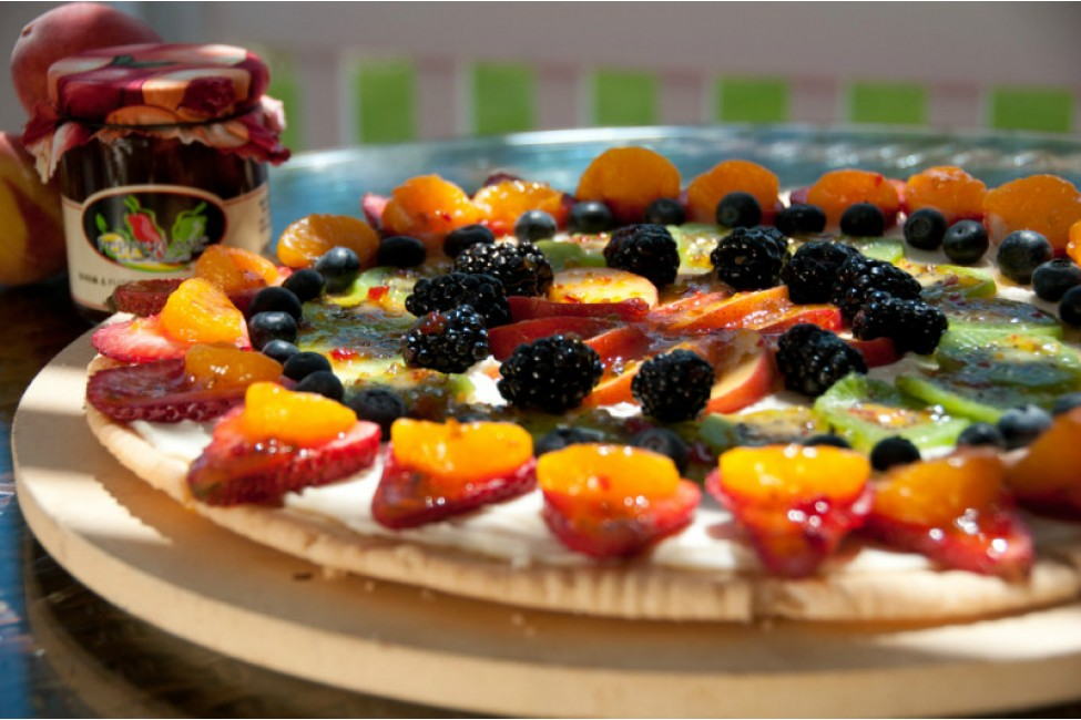 Warm and Fuzzy Fruit Pizza