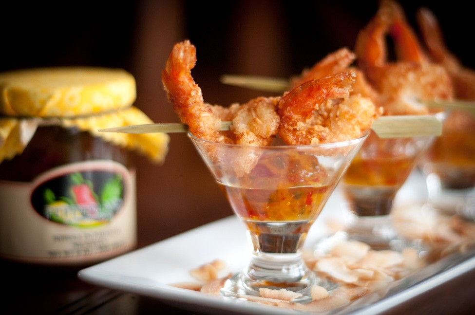"Pina Colada Shrimp in Pepperlane ""Paradise"""